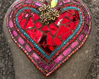 "Mosaic Ref Heart ""Rock of Love"""