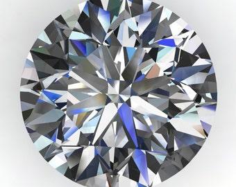 NEO moissanite - 3.5 carat diamond cut round moissanite, colorless moissanite, loose stone