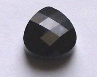 Swarovski Elements Crystal Pendant Flat BRIOLETTE 6012 Crystal Pendant JET Black -- Available in 11x10mm and 15x14mm