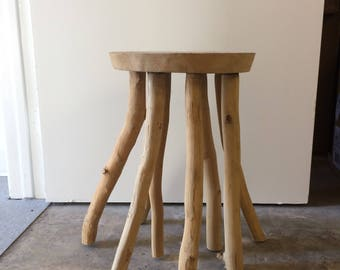 Organic Wood Branch Side Table