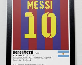 Barcelona Legends Poster Messi Suarez Xavi