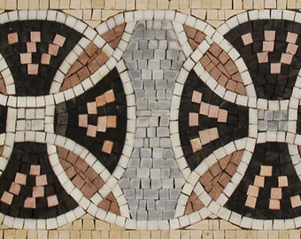 "39""x10"" Handcraft Handcut Wall Skirting Tile Home Art Marble Mosaic BD106"