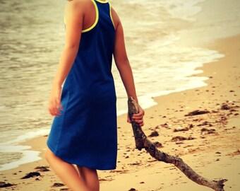 Thread Faction #107 Girls knit racer back dress with hi-low hem PDF Sewing pattern Sizes 2 - 10