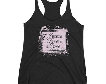 Peace Love & a Cure Women's Racerback Tank