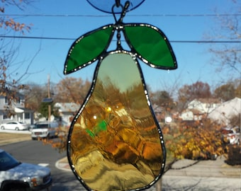 Stained glass pear, fruit