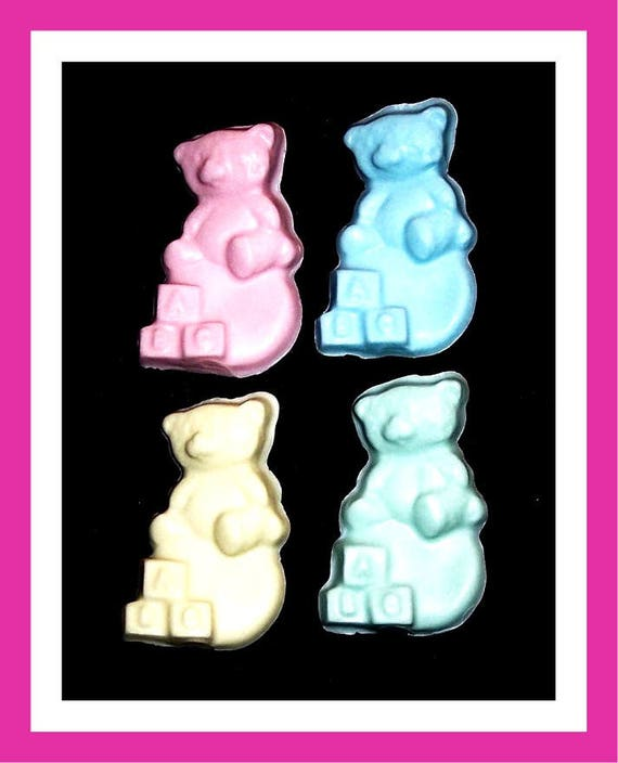 24 Bear Soap Favors,Baby Shower Favors,Personalized Baby Shower Button Pin,Its a Girl,Its a Boy,Birthday Party Favors,Kid Soap,Baby Bear