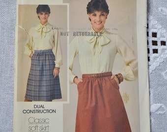 Butterick Sewing Pattern 3922  Misses Skirt Size 12 Fashion Clothing DIY  PanchosPorch