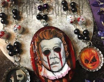 Halloween Slasher & Jamie Necklace