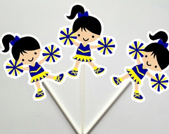 Cheerleader Cupcake Toppers 22418212A
