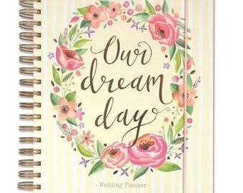 Floral Wedding Planner Book Diary Journal Organiser Engagement Gift