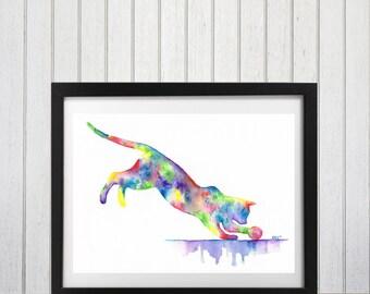 Cat, Cat Print, Wall decor, Abstract Art, Cat Art, Cat silhouette, Cat lover gift, Abstract Cat, Wall art, Art print