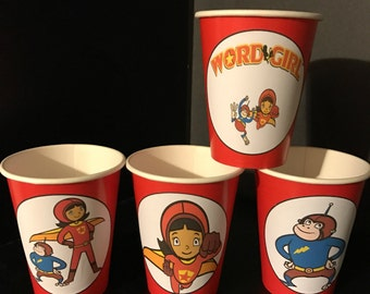 Word Girl | Super Girl Birthday Party Cups - 12