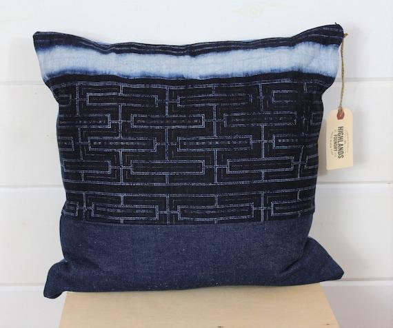 Indigo Batik Pillow Cover