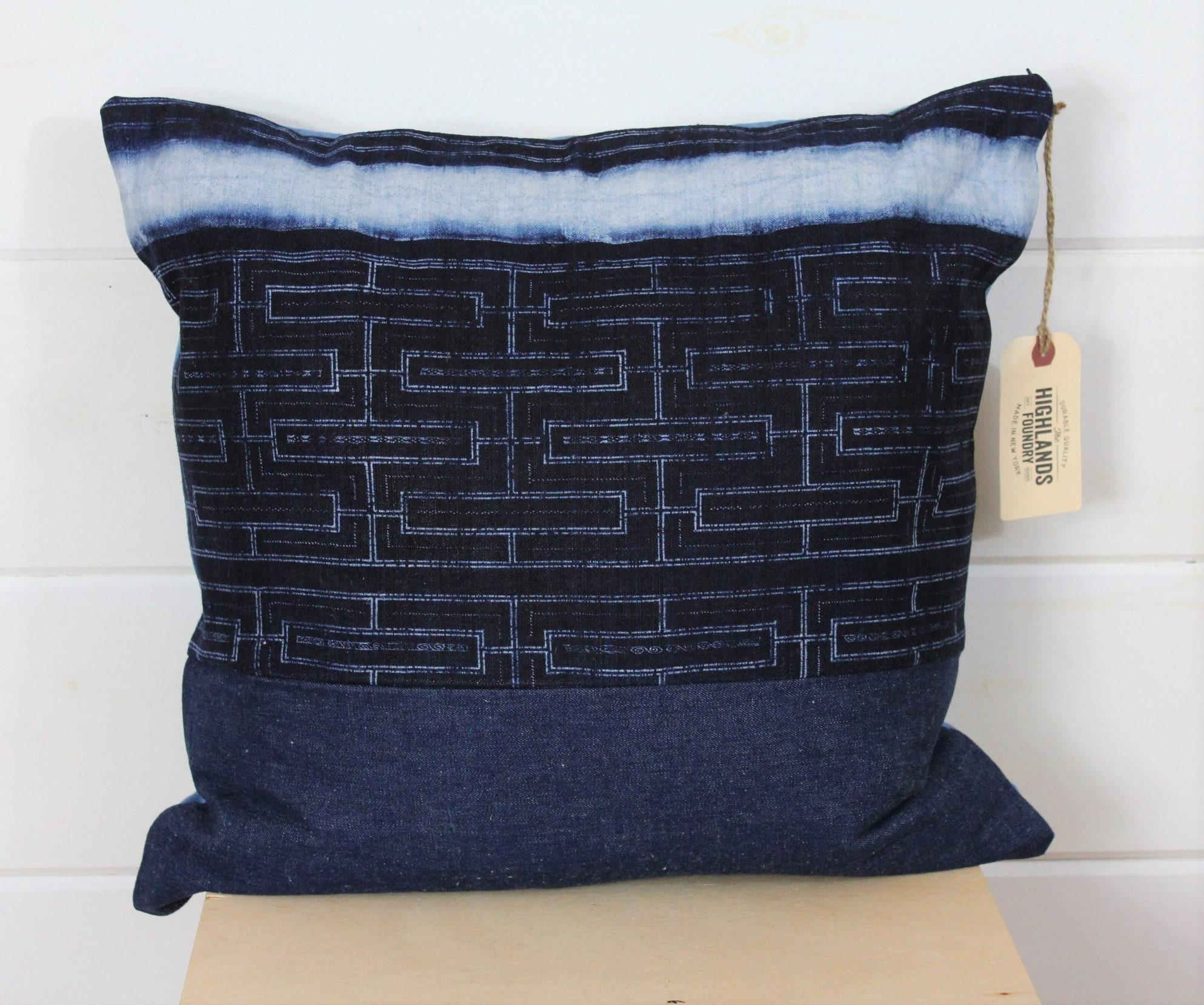 Preferred Indigo Batik Pillow Cover RO94