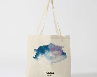 X88Y tote bag watercolor, canvas bag, bag cotton, purse, bag bag, shopping bag, bag course, computer bag, tote bag