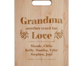 Another Word For Love Cutting Board - Engraved Cutting Board,Personalized Cutting Board, Wedding Gift,Housewarming Gift, Anniversary Gift
