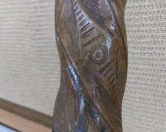 Old Vintage Carved Wood Wooden Carving Mexico Mexican Snake Cane Walking Stick