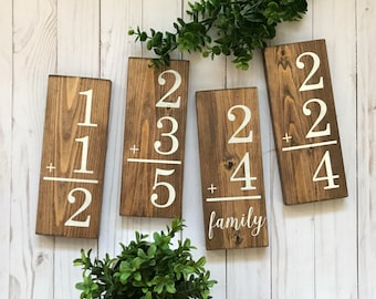 Family Flashcard, Flashcard Sign, Family Flashcard Sign, Family Flash Card, Flash Card Sign, Wooden Flashcard, Wood Flashcard, Flashcard Art