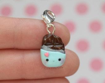 Kawaii Bitten Chocolate Bar, Polymer Clay Charm, Polymer Clay Necklace, Handmade Polymer Clay Jewelry