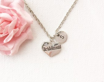 Silver bridesmaid Necklace, bridesmaid necklace, bridesmaid jewellery, bridesmaid jewelry,bridesmaid gift, wedding gift, bridesmaid gift