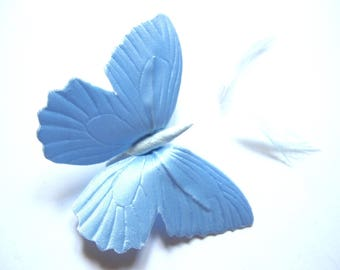BUTTERFLY SHAPED SILK AND ARMOR 55/80 MM PALE BLUE SATIN