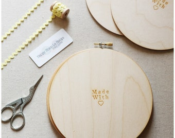6 inch Wooden Backs For finishing Embroidery Hoops. Pack of 3 Embroidery Hoop Backs. Embroidery Hoop Art. Embroidery Hoop Finishing Tutorial