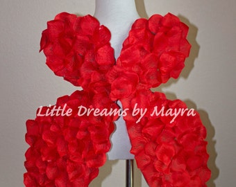 Red, White, Pink or Ivory wings fits to any size, Cupid inspired wings