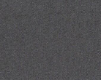 Tissu 100% coton uni gris foncé