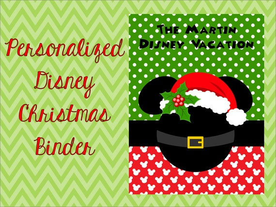 personalized disney christmas planning binder cover