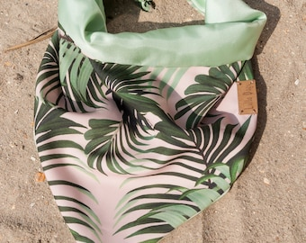 Summer collection 2018 Lulladogs dog bandana - tropical foliage