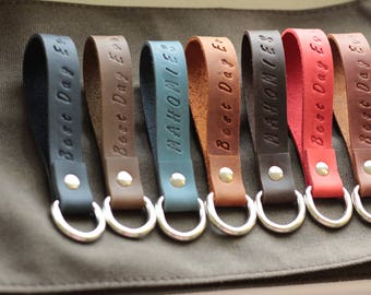 Leather key fob  Leather keyring  Personalized leather keychains