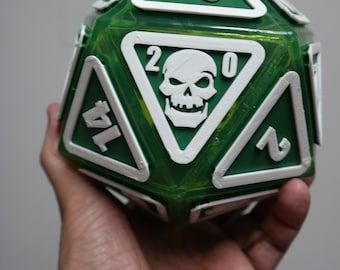 "Giant D20 Twenty-Sider 6.5"": Mean Green"