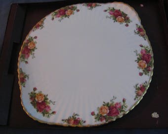 Royal Albert* Old Country Roses* Cake Plate* Cheese Plate*
