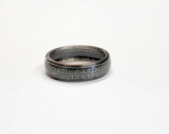 North Carolina - Coin Ring - Coin Jewelry - Quarter Ring - State Wedding Ring - Husband - Wife - State Quarter Ring - Anniversary Gift