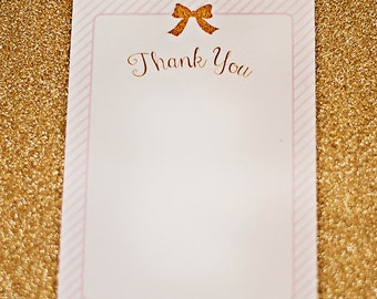 Ballerina/Ballet Party Thank You Cards - Printable