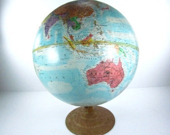 Vintage world globe globe world map lucite stand mid vintage world globe globe globemaster world map interior design office decor gumiabroncs Image collections