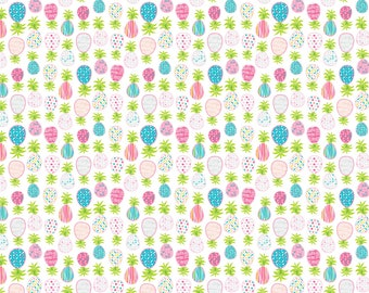 Dena Design's, Free Spirit Fabrics, HAUTE ZAHARA, Pineapples, Cotton Fabric, PWDF273