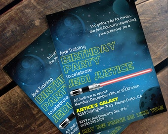 Star Wars Invitation - Star Wars Birthday Party,  Star Wars Party | Editable Text - DIY Instant Download PDF Printable