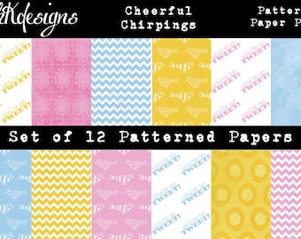 Cheerful Chirpings Digital Paper Pack