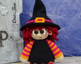 "Agatha the Little Witch ""Little Explorer Series"" Amigurumi - PDF Crochet Pattern - Instant Download - Amigurumi Cuddy Stuff"
