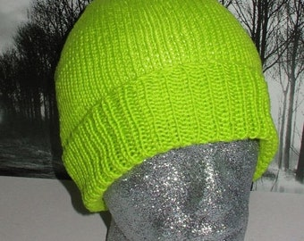 HALF PRICE SALE Instant Digital File pdf download knitting pattern -madmonkeyknits simple dk beanie hat knitting pattern