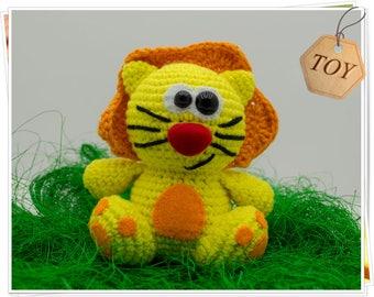 Amigurumi Lion Toy, Crochet Lion Toy, Plush Lion Toy, Soft Lion Toy, Stuffed Lion Toy, Yellow Lion Toy, Crochet Lion Doll, Handmade Lion Toy