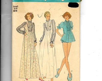 Simplicity Misses' Nightgown In Two Lengths and Panties Pattern 7237