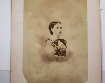 Vintage Photograph Portrait Woman/Lady Mid 1800's