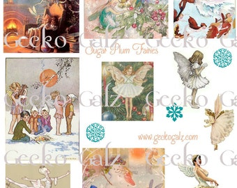 Sugar Plum Fairies Digital Collage Sheet