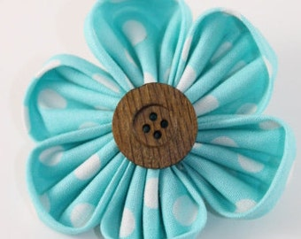 Large Light Blue & White Orchid Flower Bow