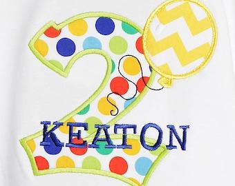 Balloon Birthday Shirt, Boys Birthday Shirt, Personalized Number Birthday Balloon Shirt, Girls Birthday Shirt, Custom Birthday Shirt