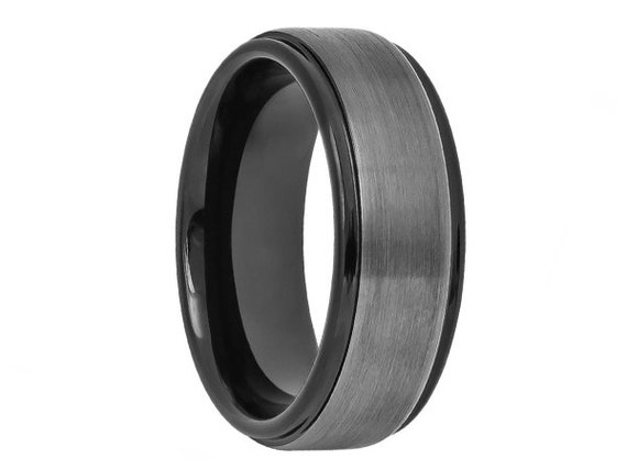Tungsten Wedding Bandgun Metaltwo Toneblack Wedding Band