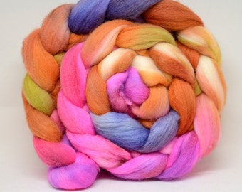 Polwarth / Silk Top for spinning, 4 oz
