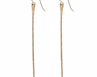 Pahi Gold Earrings, Spike Earrings, 14K Gold Fill Jewelry, Gold Earrings, Edgy, Gift, Hawaii Jewelry, Beach Jewelry, Kauai
